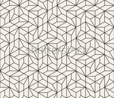 Наклейка Вектор бесшовные модели Современная стильная абстрактная текстура. Повторяющиеся геометрические плитки из полосатых элементов
