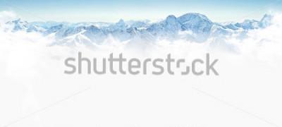 Наклейка Панорама зимних гор с копией пространства