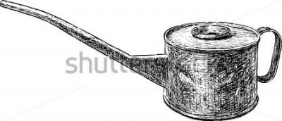 Наклейка старый медный чайник