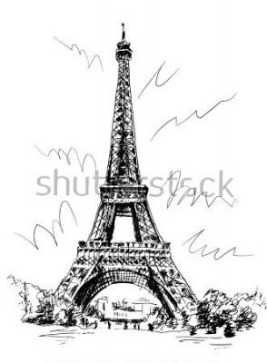 Наклейка Париж, Франция, Париж, Франция.