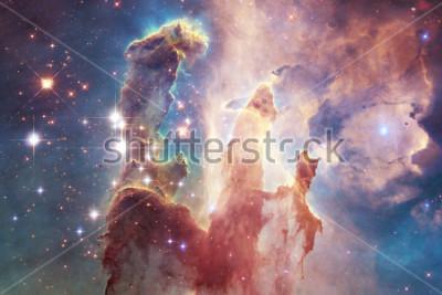 Наклейка Миллиарды галактик во вселенной. Абстрактный космический фон. Элементы этого изображения, представленные НАСА