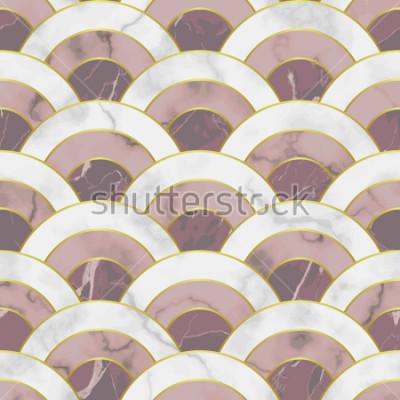 Наклейка Волна мрамора бесшовные модели. Абстрактный геометрический повтор фона. Азиатский традиционный фон, интерьерная плитка.