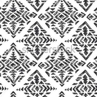 Наклейка Эскиз каракули в черно-белом стиле