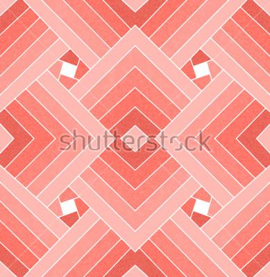 Наклейка Бесшовные геометрические живые коралловые квадратный узор