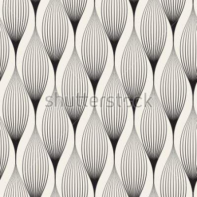 Наклейка Вектор бесшовные модели Абстрактный стильный фон со стилизованными лепестками