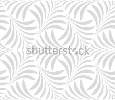 Наклейка Бесшовные модели Цветочный стильный фон. Серо-белый орнамент. Графический современный рисунок.