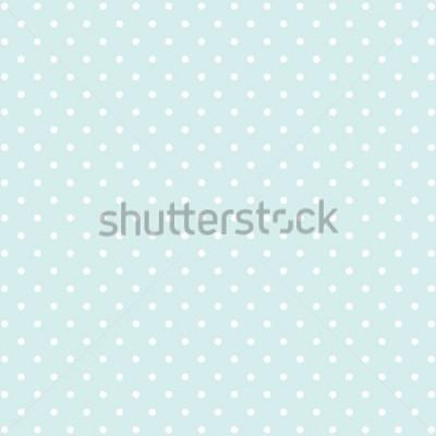 Наклейка синий фон в горошек v2