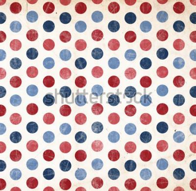 Наклейка Патриотический фон - красные и синие точки