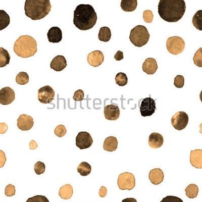 Наклейка акварель в горошек бесшовные модели. текстиль, плитка, обои, упаковка, печать. открытка, баннер или абстрактный фон. рука тонет повторяющийся узор с разноцветными точками неровной формы