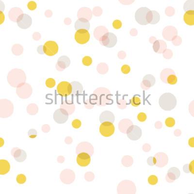 Наклейка Современный абстрактный вектор большой фон конфетти. Бесшовные разноцветных точек.
