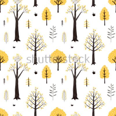 Наклейка autumn forest pattern