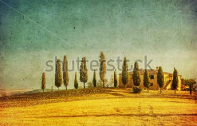 Наклейка vintage tuscan landscape