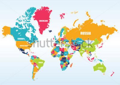 Наклейка World map-countries