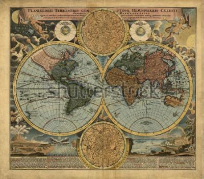 Наклейка Old map