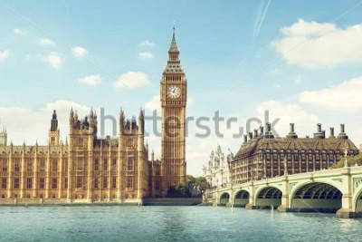 Наклейка Big Ben in sunny day, London