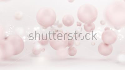 Наклейка Ярко-белый фон с воздушными шарами. 3d иллюстрация, перевод 3d.