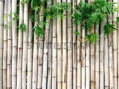 Наклейка Натуральный бамбуковый фон