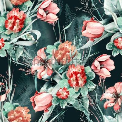 Наклейка Весна бесшовные модели