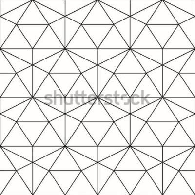 Наклейка Вектор бесшовные модели Геометрический фон с ромбом и узлами. Абстрактный геометрический рисунок. Серая текстура. Бесшовные геометрический рисунок.