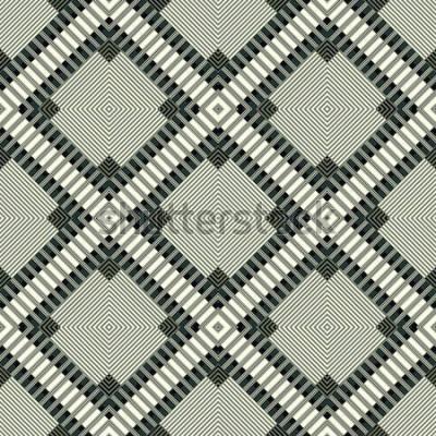 Наклейка темные линии и многоугольники геометрических фон бесшовные модели иллюстрации