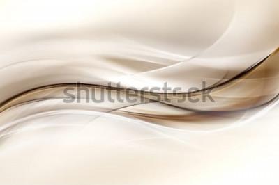 Наклейка Абстрактный коричневый дизайн волны фон