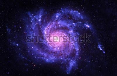 Наклейка Спиральная галактика - элементы этого изображения, предоставленные НАСА