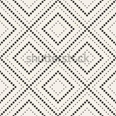 Наклейка Вектор бесшовные модели Современная стильная текстура. Повторяющиеся геометрические плитки с пунктирным ромбом