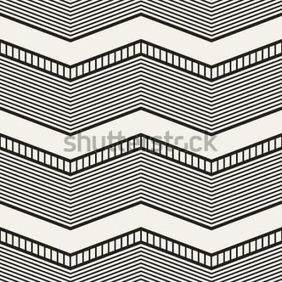 Наклейка Бесшовные геометрический рисунок. Зигзагообразные полосы. Векторные графические текстуры
