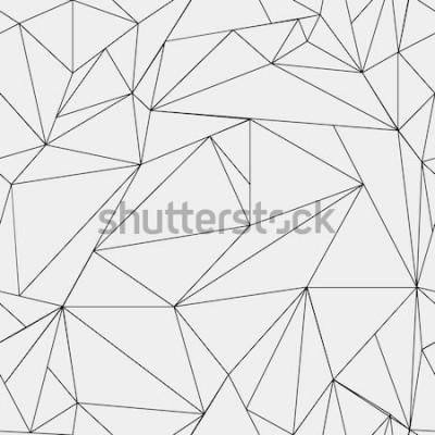 Наклейка Геометрический простой черно-белый минималистичный рисунок, треугольники или витраж. Может использоваться в качестве обоев, фона или текстуры.