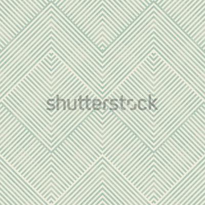 Наклейка Безшовная абстрактная геометрическая картина в бирюзе и беж на предпосылке текстуры. Бесконечный узор можно использовать для керамической плитки, обоев, линолеума, текстиля, фона веб-страницы.