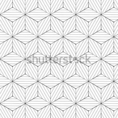 Наклейка Черно-белая геометрическая картина, вектор предпосылки.
