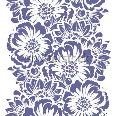 Наклейка Абстрактная элегантность бесшовные модели с цветочным фоном