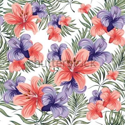 Наклейка Розы. Цветущие весенне-летние цветы растения. Бесшовные модели Векторное изображение