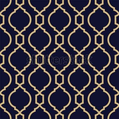 Наклейка Абстрактный узор в арабском стиле. Бесшовные геометрических фон вектор.