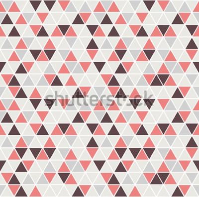 Наклейка Бесшовные треугольник. Векторный фон Геометрическая абстрактная текстура