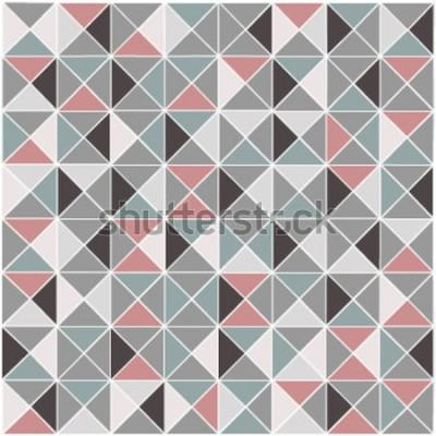 Наклейка Бесшовные растровых геометрических ромб цвет рисунка фона