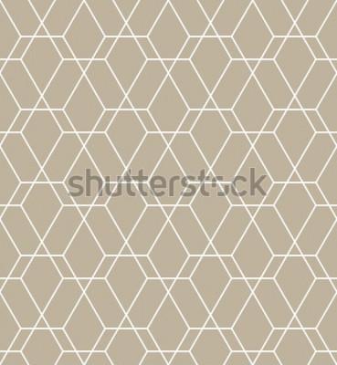Наклейка Абстрактный геометрический узор с линиями. Бесшовные фон вектор. Графический современный рисунок.