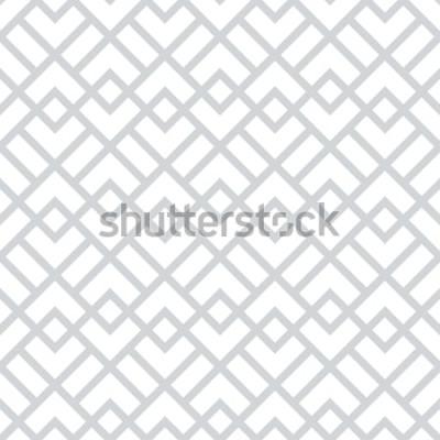 Наклейка Абстрактный геометрический узор с квадратами, ромбами. Бесшовные фон вектор. Серо-белый графический рисунок.