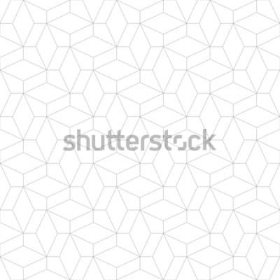 Наклейка Абстрактный геометрический рисунок с пересечением тонких линий. Стильная текстура в сером цвете. Бесшовные линейный рисунок.