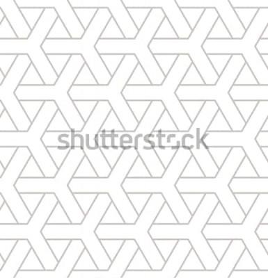 Наклейка Бесшовные геометрический рисунок. Геометрическая простая печать с тройными элементами. Вектор повторяющиеся текстуры. Современный хипстерский образец. Минималистичный повторяющийся фон.