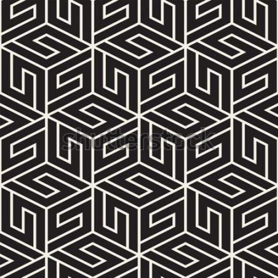 Наклейка Вектор бесшовные решетки. Современная стильная текстура с монохромной решеткой. Повторяя геометрическую сетку. Простой дизайн фона.