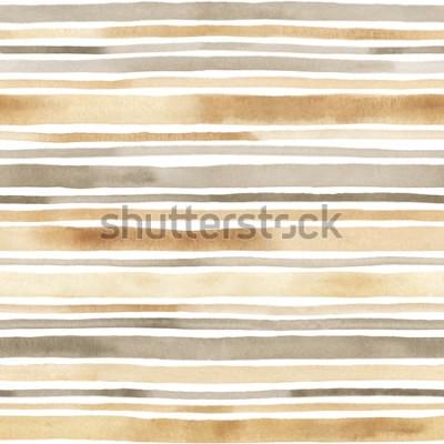 Наклейка Акварель полосатый фон. Ручной обращается фон с акварельными полосами