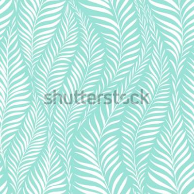 Наклейка Шаблон пальмовых листьев. Векторная иллюстрация Элемент декора