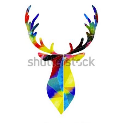 Наклейка голова оленя