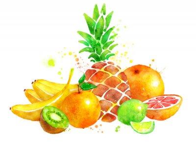 Наклейка Still life with fruits.