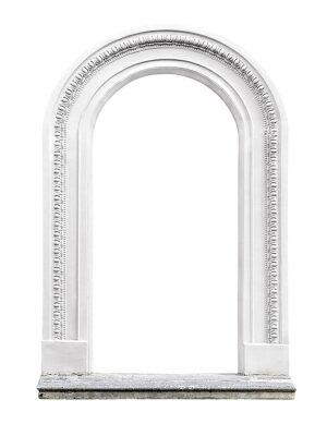 Наклейка каменная арка, изолированных на белом фоне
