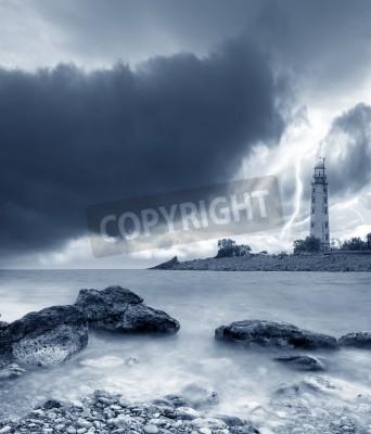 Наклейка Буря на море