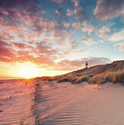 Наклейка Пляж и дюны на острове Зильт