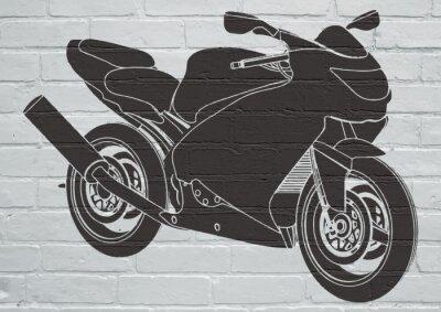 Наклейка Уличное искусство, Moto
