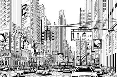 Наклейка улица в Нью-Йорке